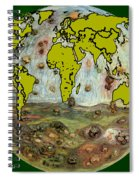 World Map And Earth Spiral Notebook