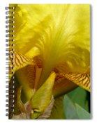 Yellow Iris Spiral Notebook