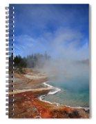 Yellowstone Park Geyser Spiral Notebook