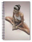Yoga Bound Angle Pose Spiral Notebook
