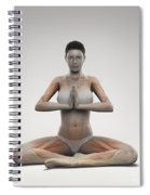 Yoga Meditation Pose Spiral Notebook