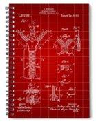 Zipper Patent 1914 - Red Spiral Notebook