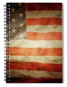 American Flag Rippled Spiral Notebook