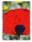 Poppy Flower Spiral Notebook