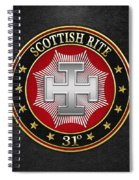 31st Degree - Inspector Inquisitor Jewel On Black Leather Spiral Notebook