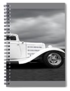 32 Ford Deuce Coupe In Black And White Spiral Notebook