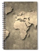 World Map Spiral Notebook