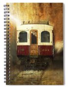 321 Antique Passenger Train Car Textured Spiral Notebook