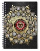 33 Scottish Rite Degrees On Black Leather Spiral Notebook