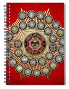 33 Scottish Rite Degrees On Red Leather Spiral Notebook