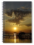 An Outer Banks Of North Carolina Sunset Spiral Notebook