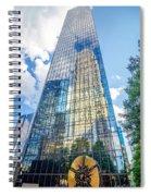 Skyline And City Streets Of Charlotte North Carolina Usa Spiral Notebook