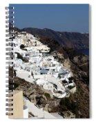Views Of Santorini Greece Spiral Notebook