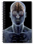 Human Brain Spiral Notebook