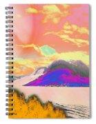 Space Landscape Spiral Notebook