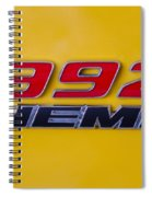 392 Hemi In Yellow Spiral Notebook