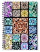 3d Cosmic Sample Grid Spiral Notebook