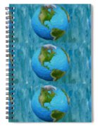 3d Render Of Planet Earth 1 Spiral Notebook