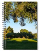 3rd Green At Quilchena  Spiral Notebook