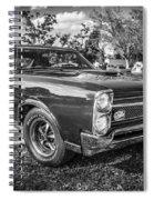 1967 Pontiac Gto Bw Spiral Notebook