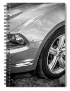 2010 Ford Mustang Convertible Bw Spiral Notebook