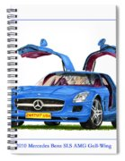2010 Mercedes Benz S L S Gull-wing Spiral Notebook
