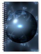 Abstract Blue Globe Spiral Notebook