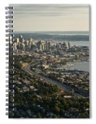 Aerial View Of Seattle Spiral Notebook
