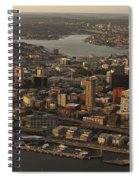 Aerial View Of Seattle Skyline Along Waterfront Spiral Notebook