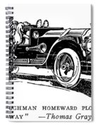 Automobile Cartoon, 1914 Spiral Notebook