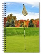 Autumn Golf Spiral Notebook