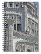 Bahai Temple Wilmette Spiral Notebook