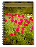 Fence Line Flowers Spiral Notebook
