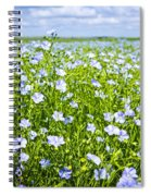 Blooming Flax Field Spiral Notebook