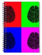 4 Brain Pop Art Panel Spiral Notebook