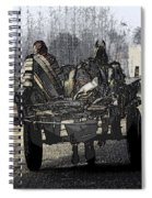 Bundled Up For The Cold In A Foggy Day In Rural India Spiral Notebook