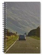 Cars And Other Vehicles On A Road In The Scottish Highlands Spiral Notebook