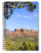 Cathedral Rock Framed By Juniper In Sedona Arizona Spiral Notebook