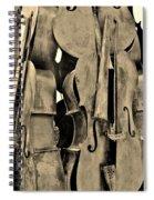 4 Cellos Sepia Spiral Notebook