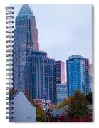 Charlotte City Skyline At Night Spiral Notebook