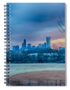 Charlotte The Queen City Skyline At Sunrise Spiral Notebook