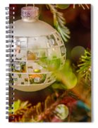Christmas Tree Ornaments And Decorations Spiral Notebook