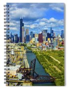 City At The Waterfront, Lake Michigan Spiral Notebook