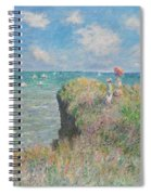 Cliff Walk At Pourville Spiral Notebook