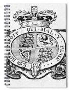 Coat Of Arms Great Britain Spiral Notebook