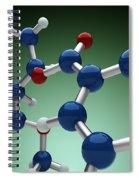 Cocaine Molecule Spiral Notebook