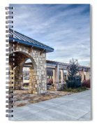 Cultured Stone Terrace Trellis Details Near Park In A City  Spiral Notebook