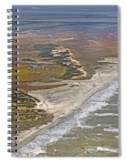 East Coast Aerial Near Jekyll Island Spiral Notebook