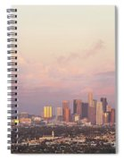 Elevated View Of City At Dusk, Downtown Spiral Notebook