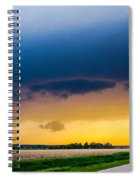 Elm Creek Nebraska Supercell Spiral Notebook